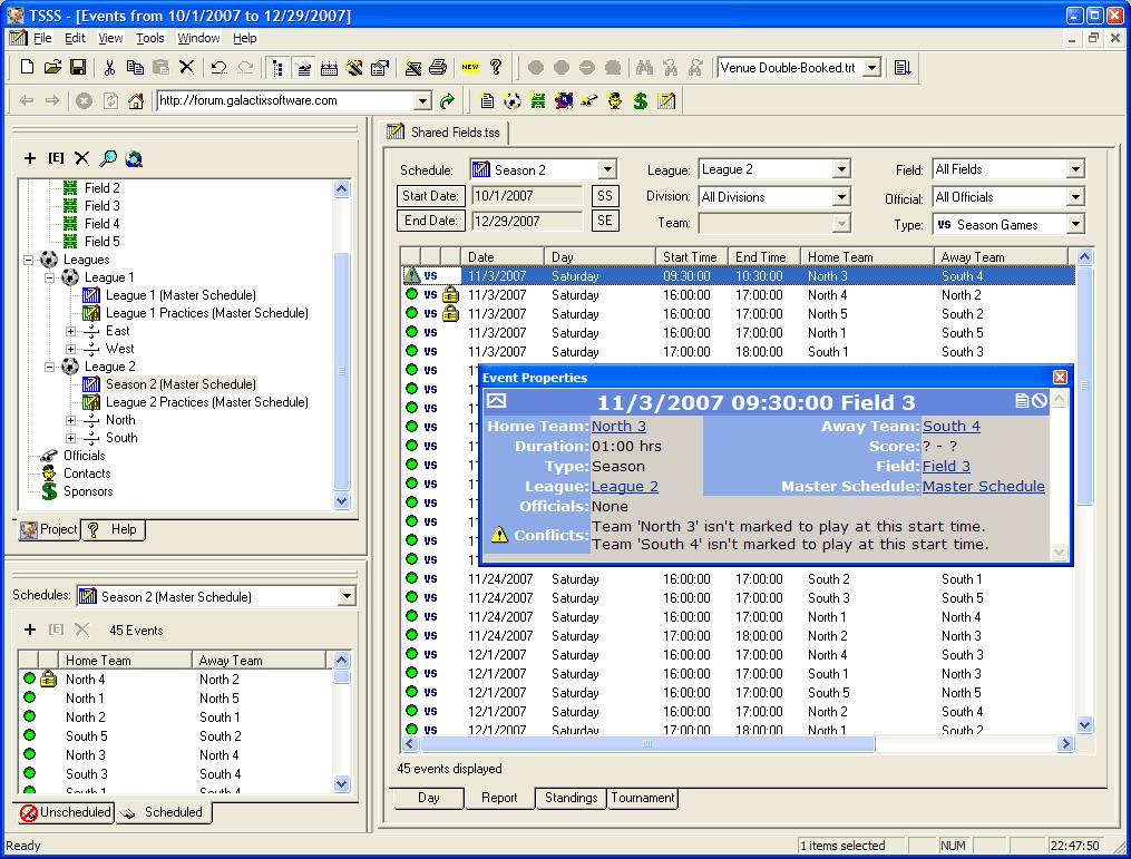 system scheduler